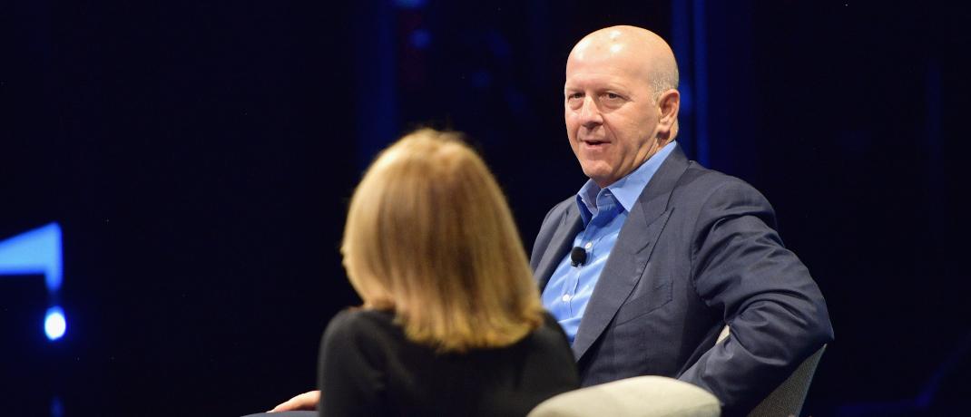 Goldman-Sachs-Chef David Solomon im Gespräch: Den Fondsstrategien des Geldhauses flossen in den ersten drei Quartalen europaweit 8,2 Milliarden Euro zu.