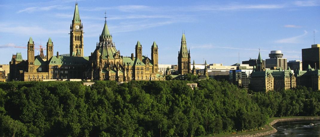Parlamentshügel in Ottawa: Kanada landet mit 3,24 Punkten auf Platz 10 im Allianz Pension Report.