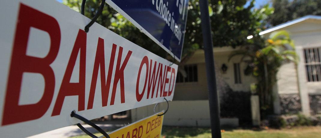 Schild vor einem zwangsversteigerten Haus im US-Bundesstaat Florida