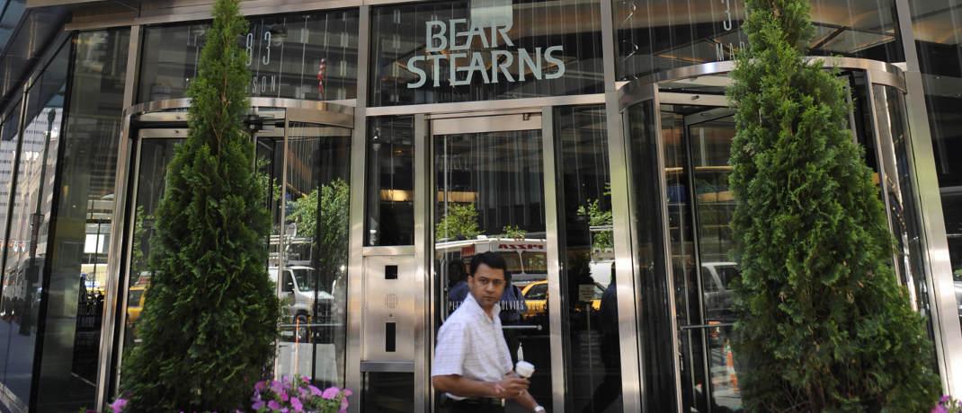 New Yorker Zentrale von Bear Stearns vor der Übernahme durch JPMorgan Chase