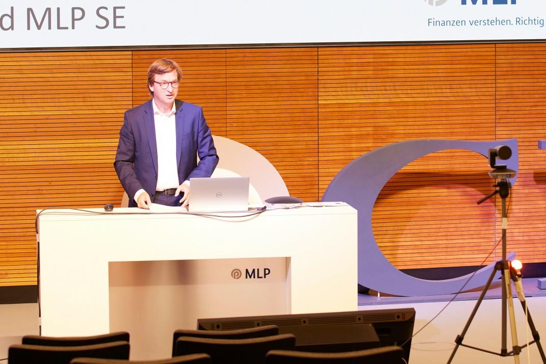 Ein Grußwort zur Veranstaltung kam von MLP-Konzernchef Uwe Schroeder-Wildberg.