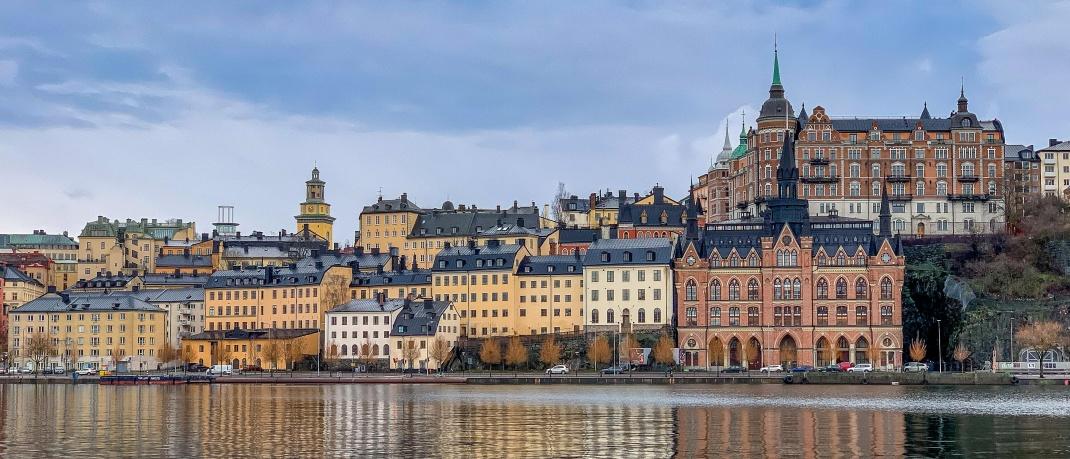 Blick auf Stockholm, Schweden