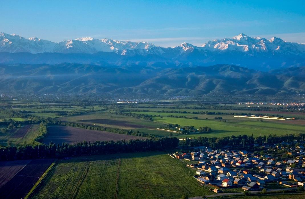 Blick auf die ehemalige kasachische Hauptstadt Almaty