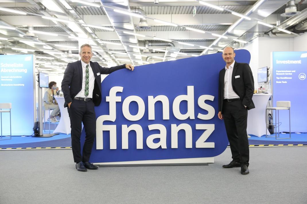 Geschäftsführer: Die Fonds-Finanz-Chefs Norbert Porazik (li.) und Markus Kiener waren auch vor Ort.