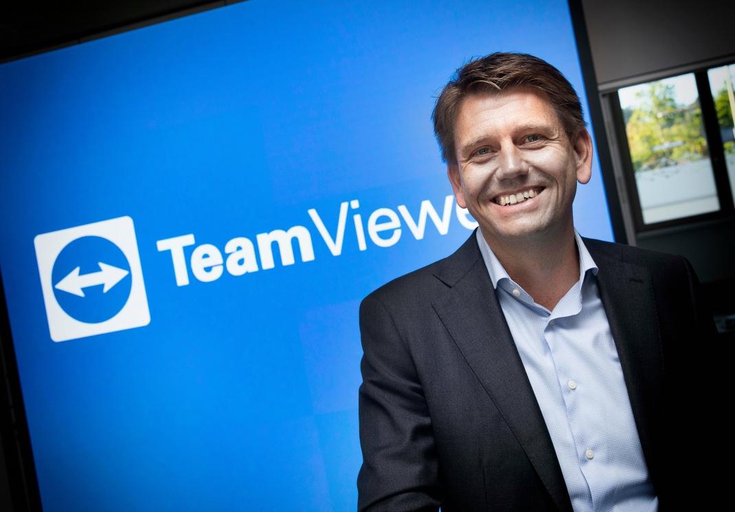 Oliver Steil, der Geschäftsführer des Unternehmens Teamviewer: Die Firma macht 2020 460,3 Millionen Euro Umsatz