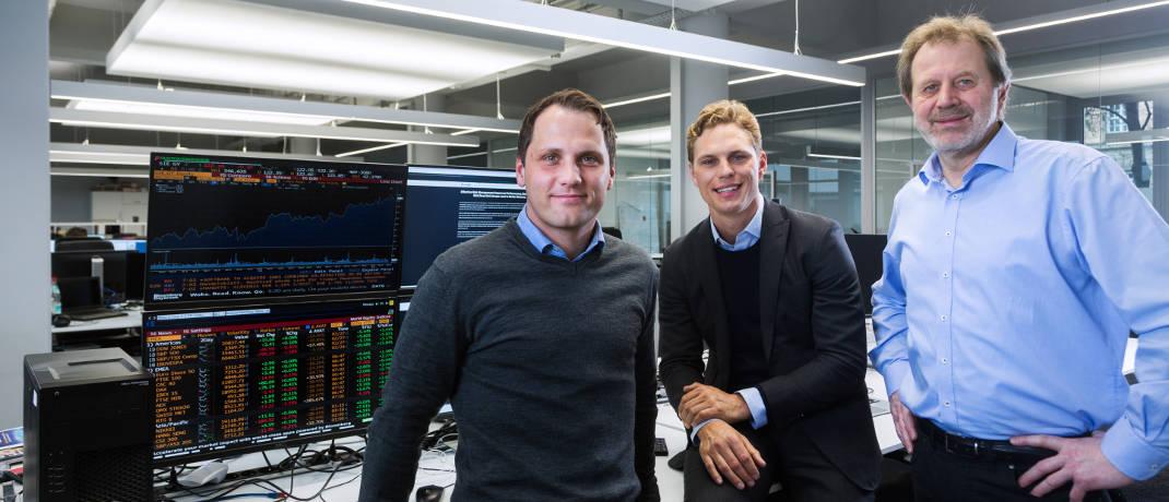 Scalable-Gründer Florian Prucker, Erik Podzuweit und Stefan Mittnik (v.l.)