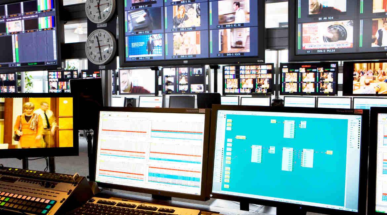 Playout-Center von ProSiebenSat 1 in Unterföhring