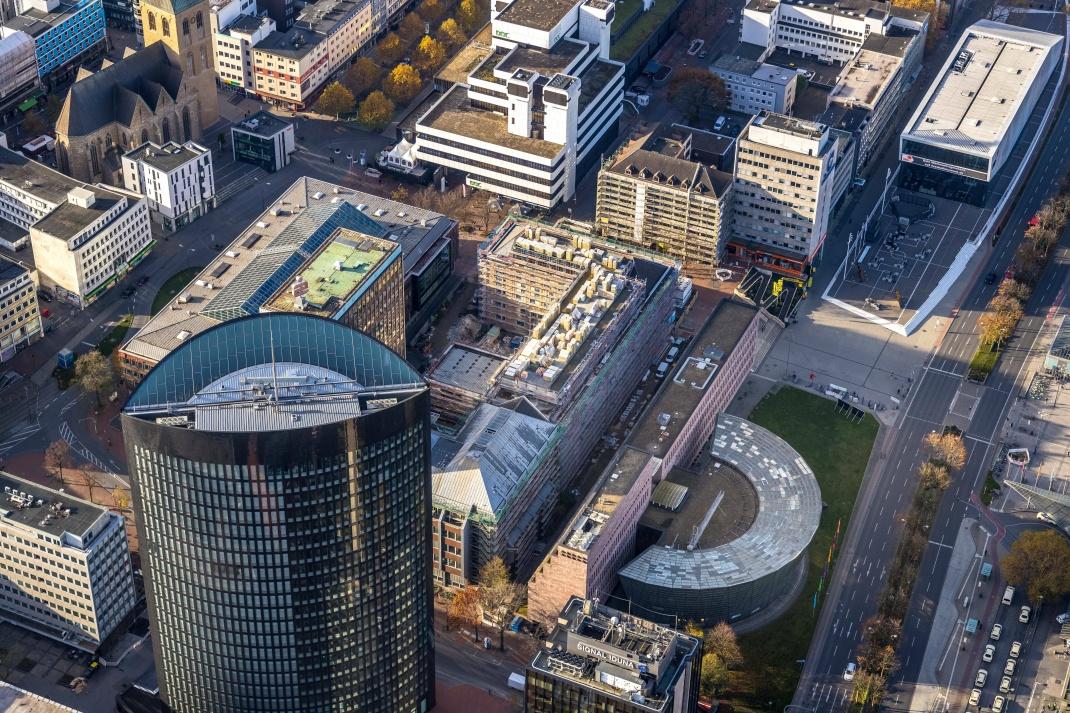 Luftbild der Dortmunder Innenstadt