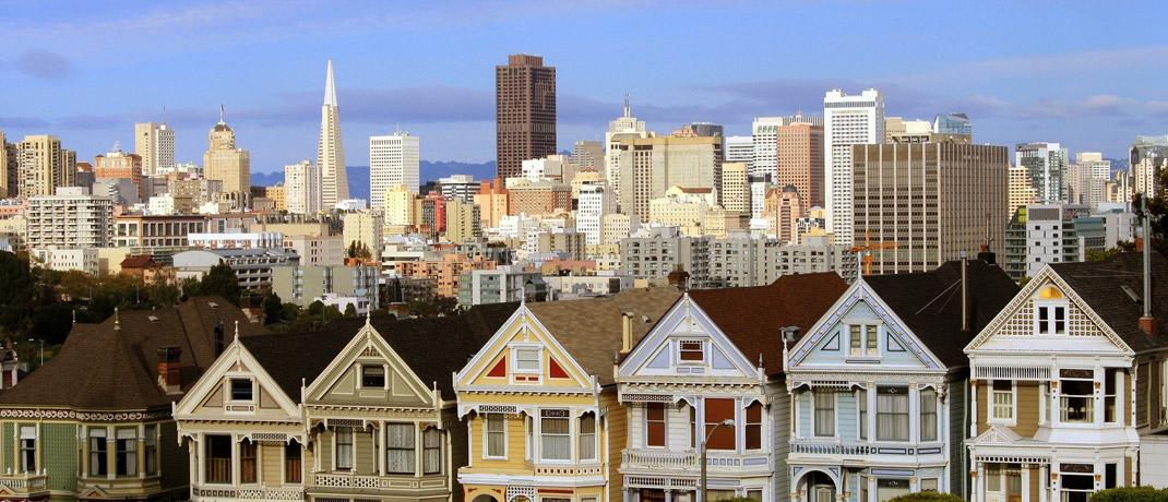 Skyline von San Francisco: Immobilien sind in der kalifornischen Stadt stark überbewertet.