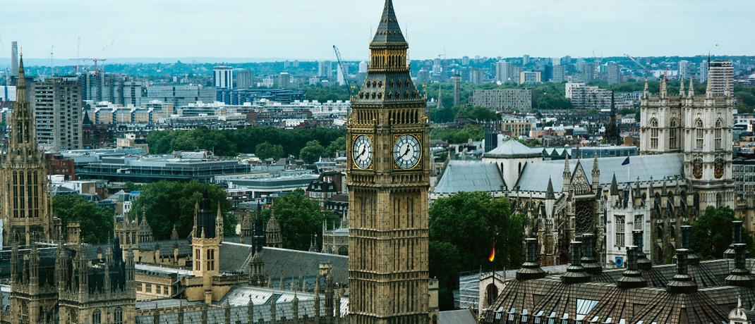 Big Ben in London: Der Immobilienmarkt der britischen Hauptstadt ist zwar nach wie vor überhitzt, jedoch herrscht erstmals seit vier Jahren keine Blasengefahr mehr.