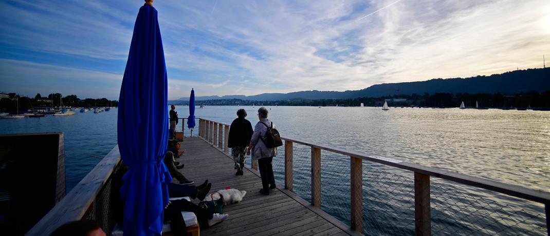Blick auf den Zürichsee: Aufgrund sinkender Hypothekenzinsen und robuster Wirtschaftsdaten steigt die Nachfrage nach Wohneigentum in Zürich.