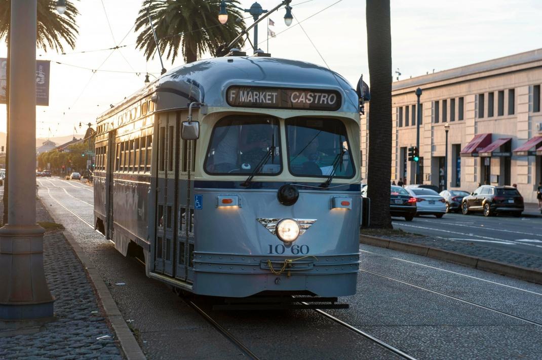 Historische Straßenbahn in San Francisco