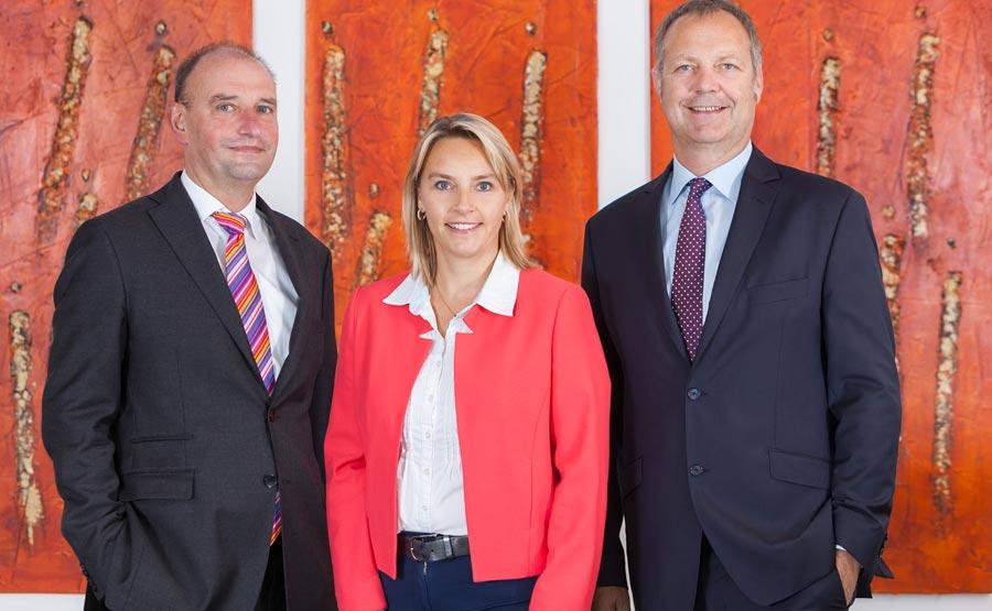 Die Geschäftsführer der SK Vermögensverwaltung (v.l.n.r): Rüdiger Fischer, Sandra Seebach und Jochen Sölter.