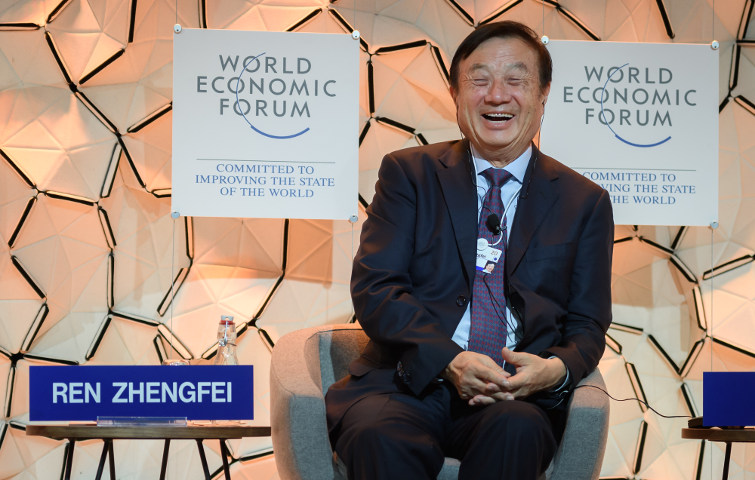Huawei-Chef Ren Zhengfei beim Weltwirtschaftsforum in Davos: Der Telekommunikationsausrüster belegt Platz 10 der wertvollsten Marken der Welt.