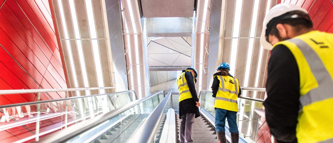 Arbeiter in neuer Metrostation am Bahnhof Kopenhagen: Auch Inlandsanleihen in Dänischer Krone gehören zu den Flop-Fondskategorien, liegen aber ebenfalls im Plus.