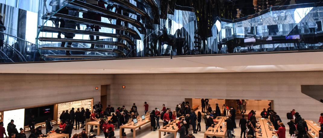 Apple-Store in New York City: Zu den Top-Positionen der in Deutschland angebotenen Fonds dieser Kategorie zählen häufig Technologiewerte.