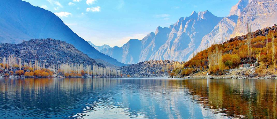 Der Obere Kachura-See im Norden Pakistans: Platz 9 im Negativ-Ranking für die Pakistanische Rupie.