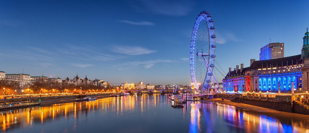 Riesenrad London Eye an der Themse: Bereits vor der Wahl im Dezember wertete das Britische Pfund gegenüber dem Euro deutlich auf.
