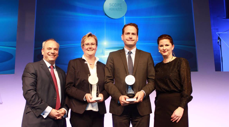 v.l.: Sven Janssen (Scope), Renate Mittmannsgruber (Kepler-Fonds KAG), Carsten Kutschera (T. Rowe Price), Jessica Schwarzer (Handelsblatt)