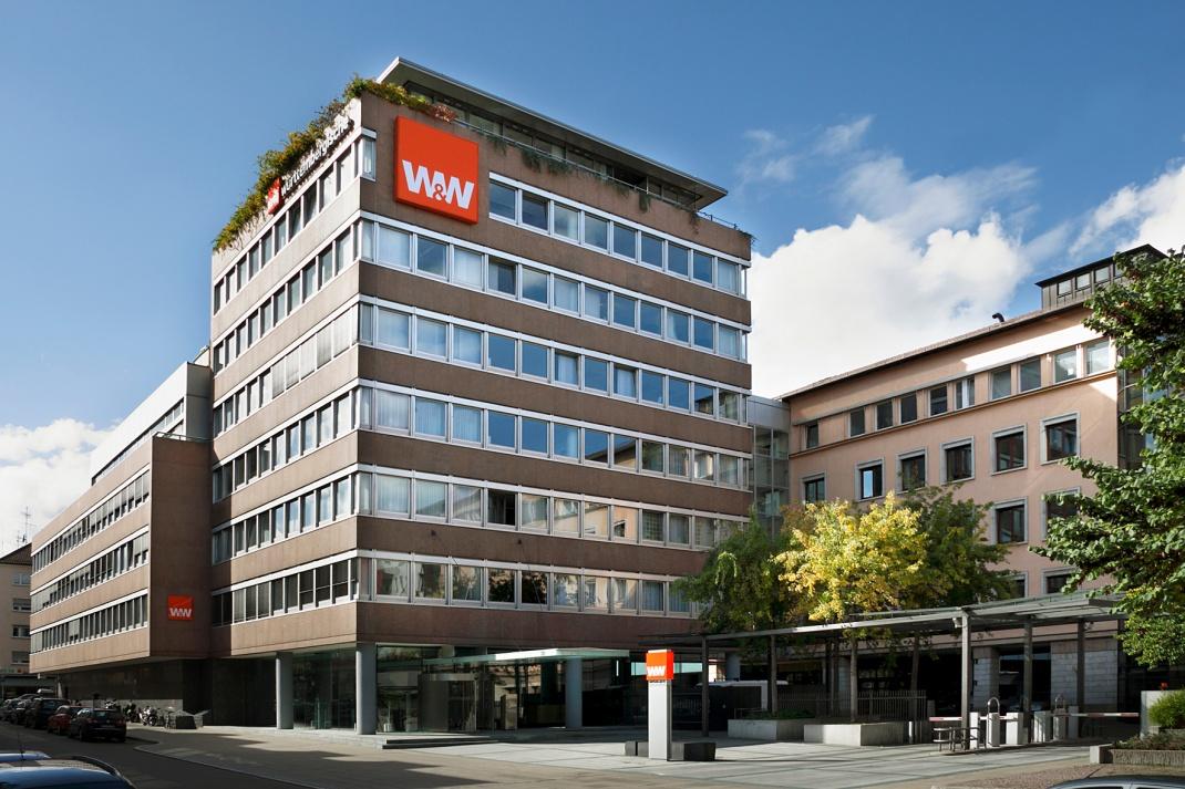 Gebäude der Württembergischen Versicherung in Stuttgart.