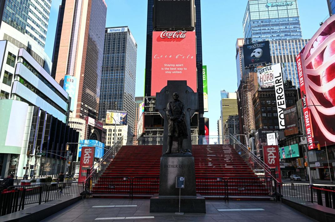 Coca-Cola-Werbung am Times Square in New York.