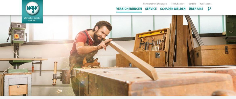 Screenshot der WGV-Homepage