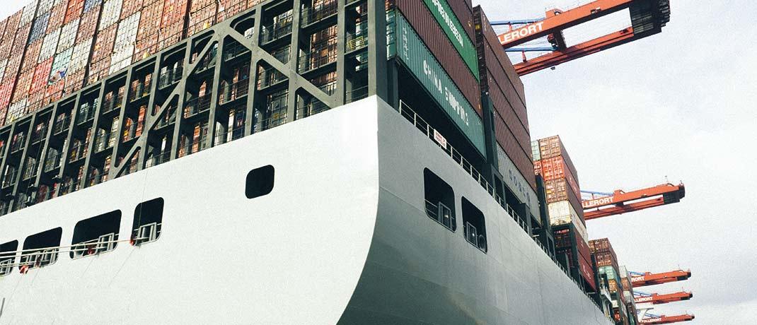Containerschiff im Hamburger Hafen: Vor rund zwei Jahren musste mit Magellan Maritime Services schon einmal ein Anbieter von Container-Investments Insolvenz anmelden.