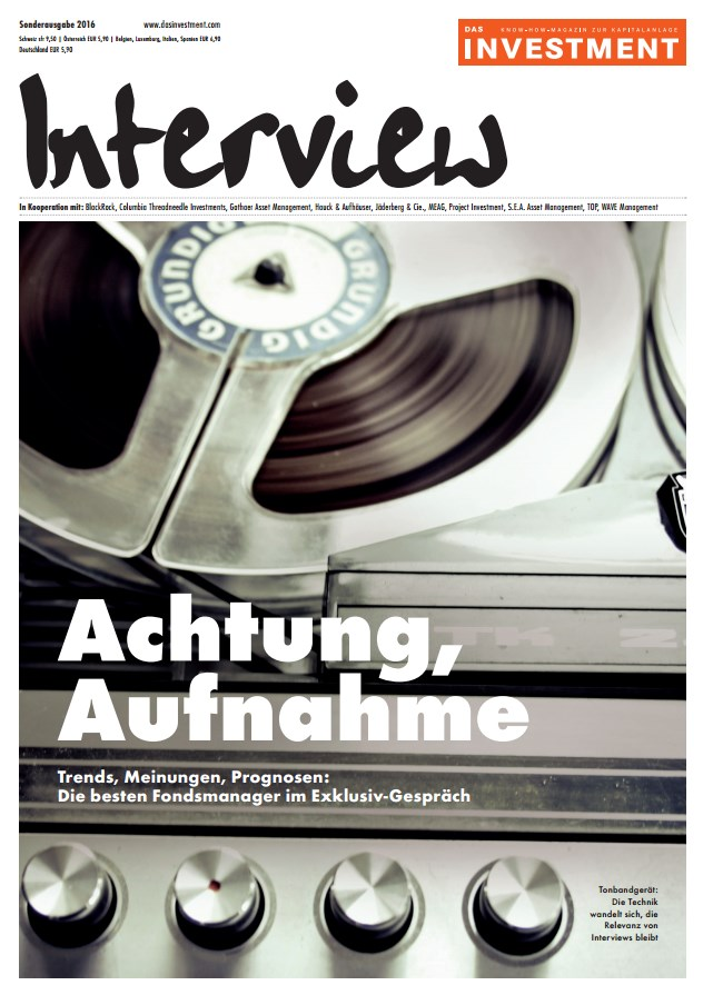 DAS INVESTMENT Interview:  Achtung, Aufnahme