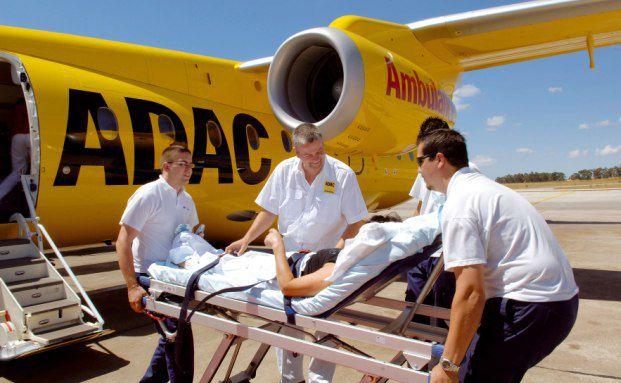 Ein Krankentransport. Der ADAC führt jährlich rund 4.500 solcher Fälle durch.