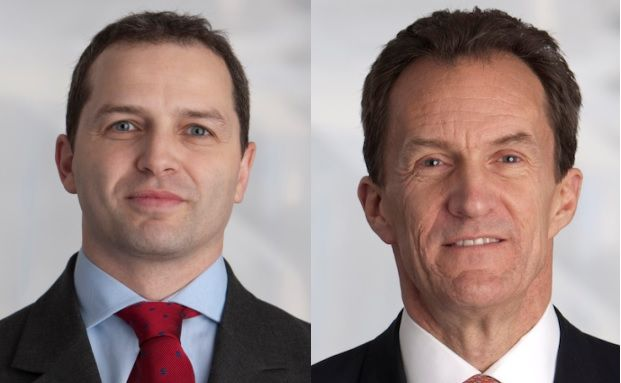 Lee Manzi (links) und Miles Geldard, Manager des Jupiter Strategic Total Return.