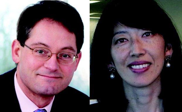 Seit vielen Jahren an der japanischen Börse <br> aktiv: ING-Managerin Miyuki Kashima <br> und Paul Chesson von Invesco