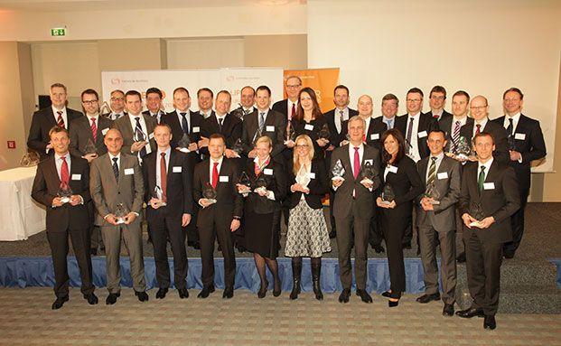 Das Sieger-Foto mit allen Preisträgern der Lipper Fund Awards Germany 2014