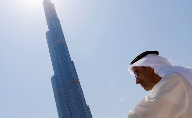 Mohammed Alabbar, Vorsitzender des Immobilienentwicklers Emaar Properties, begutachtet sein Prestige-Objekt Burj Khalifa. Emaar Properties ist eine der größten Positionen im Frontier-Markets-Fonds von Schroders (Foto: Bloomberg)