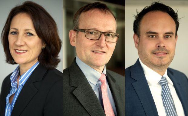 Heike Ahlgrimm, Peter Guntermann und Sebastian Grund (v. l.) verstärken Vertrieb bei Flossbach von Storch.