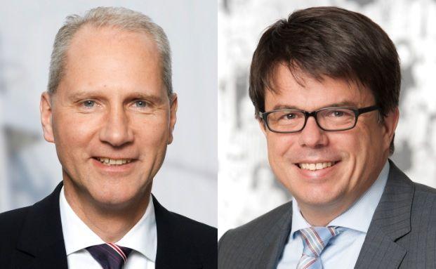 Gerhard Frieg, Vorstand im Retailgeschäft, Deutschland bei Talanx und Oliver Gaedeke, Geschäftsführer bei Service Rating (von links)
