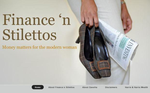 Screenshot des Blogs Finance 'n Stilletos