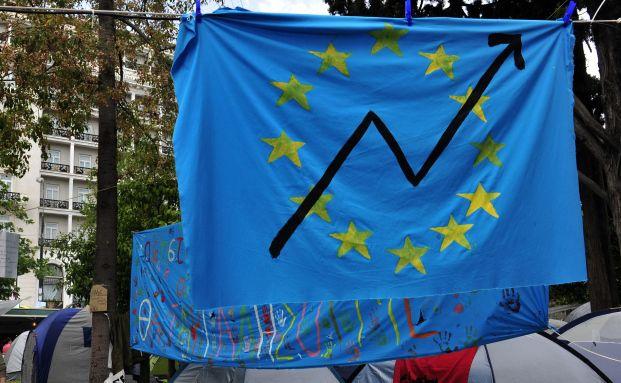 Proteste in Athen gegen die drastischen Sparma&szlig;nahmen der <br> Regierung. Deutsche B&uuml;rger f&uuml;rchten die Folgen der <br> europ&auml;ischen Schuldenkrise. Foto: Getty Images