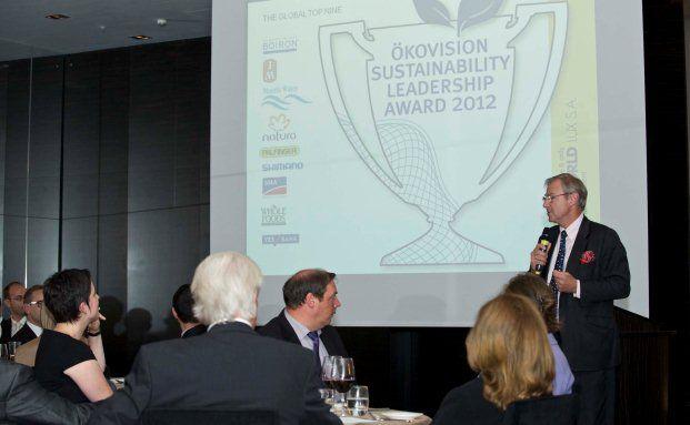 Ökoworld-Geschäftsführer und Versiko-Vorstand Michael Duesberg eröffnet die ersten Ökovision Sustainability Leadership Awards  Foto: Schumacher Fotografie