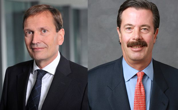 Werner Taiber, Deutschland-Chef und Sprecher der Geschäftsführung von Meriten Investment Management, und Fred Bromberg, Kundenbetreuer der Global Client Management Gruppe von BNY Mellon in New York (von links) (Foto links: Susanne Schmidt-Dominé)