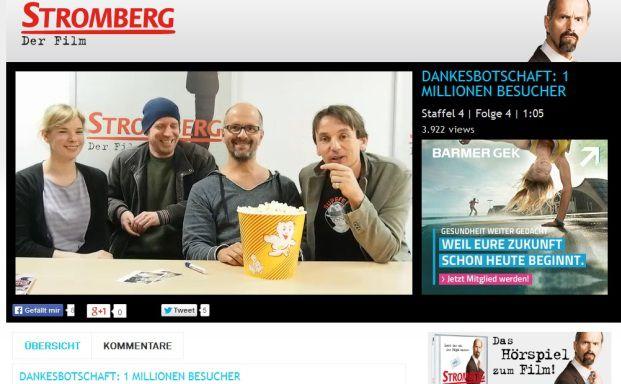 Die Stromberg-Macher danken ihren Zuschauern (Foto: Screenshot www.myspass.de)