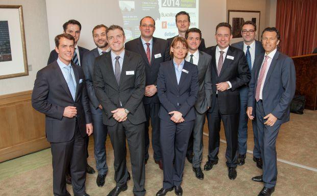 Die Referenten und Organisatoren der Best for Finance 2014 (Foto: Gunnar Geller)