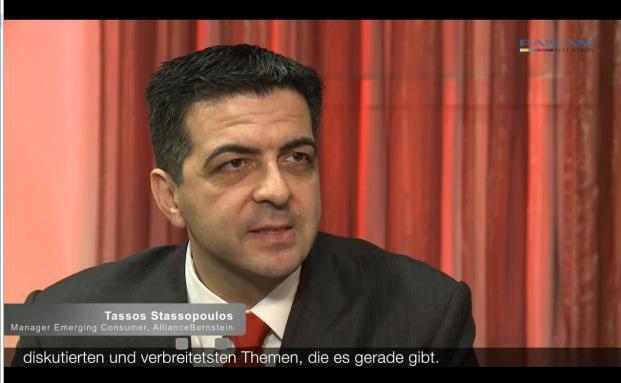 Tassos Stassopolous, Manager des Emerging Consumer Portfolio, Alliance Bernstein