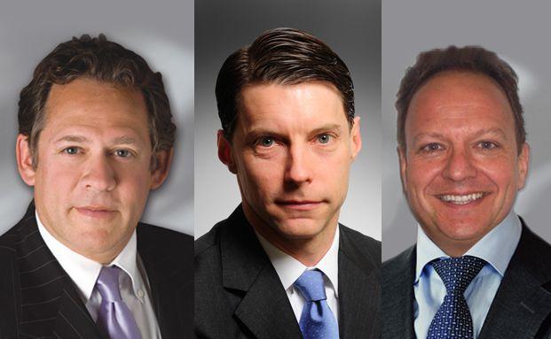 Rick Rieder (links) mit seinen Manager-Kollegen Scott Thiel (Mitte) und Bob Miller