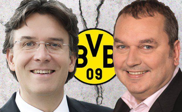 Streiten um die richtige Bewertung der BVB-Aktie: Frank Fischer (links), Vorstand der Shareholder Value Management AG in Frankfurt und Manager des Frankfurter Aktienfonds für Stiftungen, und Markus Stillger, Geschäftsführer von MB Fund Advisory in Limburg und Manager des HAIG MB Max Global