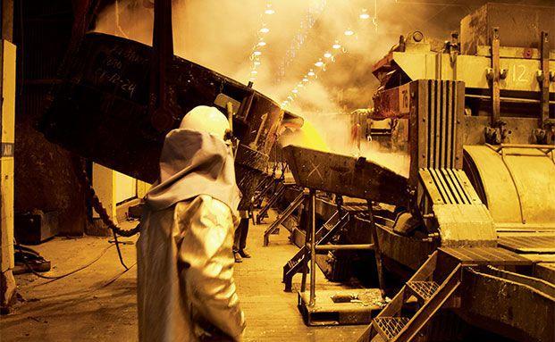 Aluminiumgießerei Wenatchee, Washington, USA. Foto: Alcoa