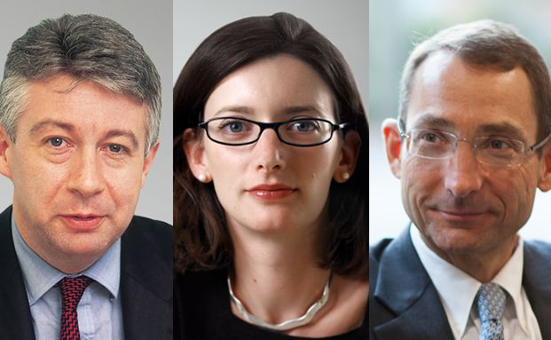 Paul Causer, Stephanie Butcher und Paul Read, Manager des Invesco Pan European High Income