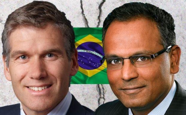 Südamerikanische Perlen oder viel zu heikel? Manu Vandenbulck (l.) und Rajiv Jain sind in punkto brasilianische Aktien unterschiedlicher Meinung.