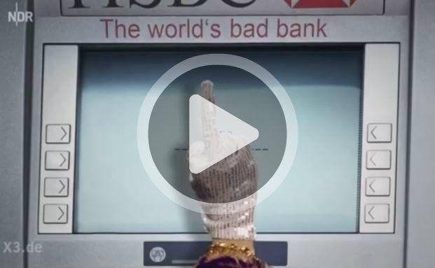 """Diskret zu Diensten: Wie """"Extra 3"""" sich den Bankautomaten der HSBC vorstellt"""