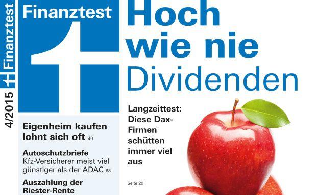 Finanztest April-Ausgabe: Riester-Produkte kommen wieder nicht gut weg (Foto: Stiftung Warentest)