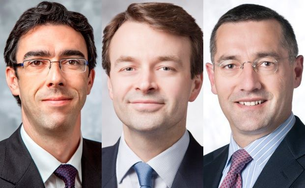 Pimco-Portfoliomanager: Lorenzo Pagani, Mike Amey und Andrew Bosomworth (von links nach rechts)